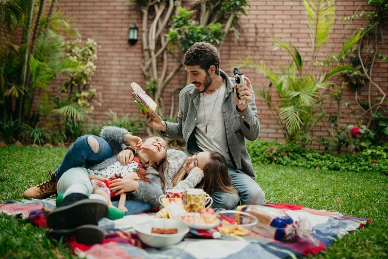 Spanish family picnic. photo