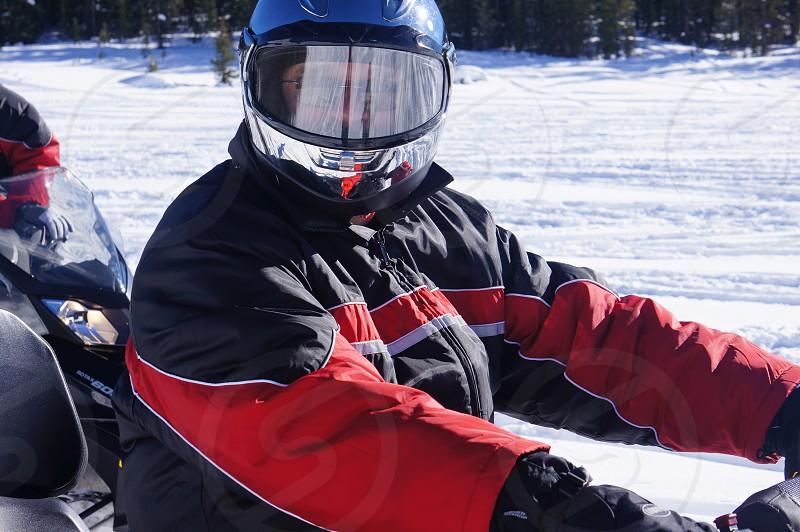 Snowmobiling photo