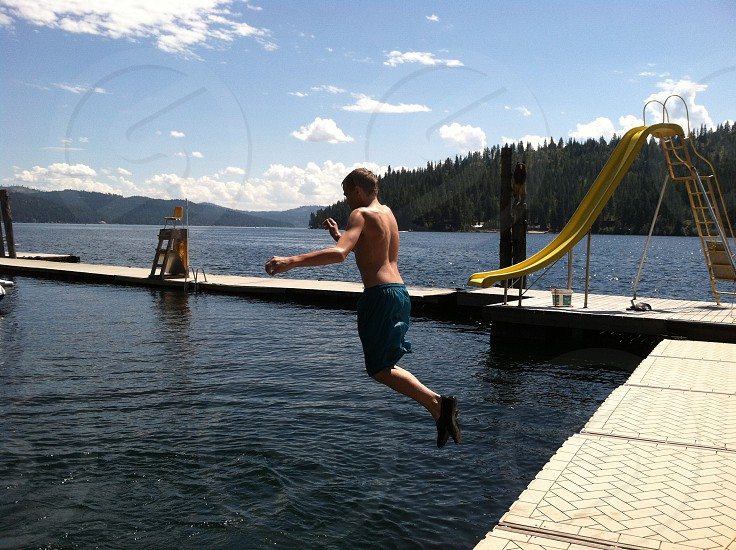 Lakesunwater fun slide photo