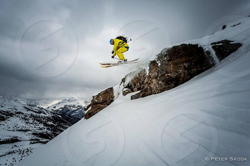 freeride ski backcountry extreme jump sport photo