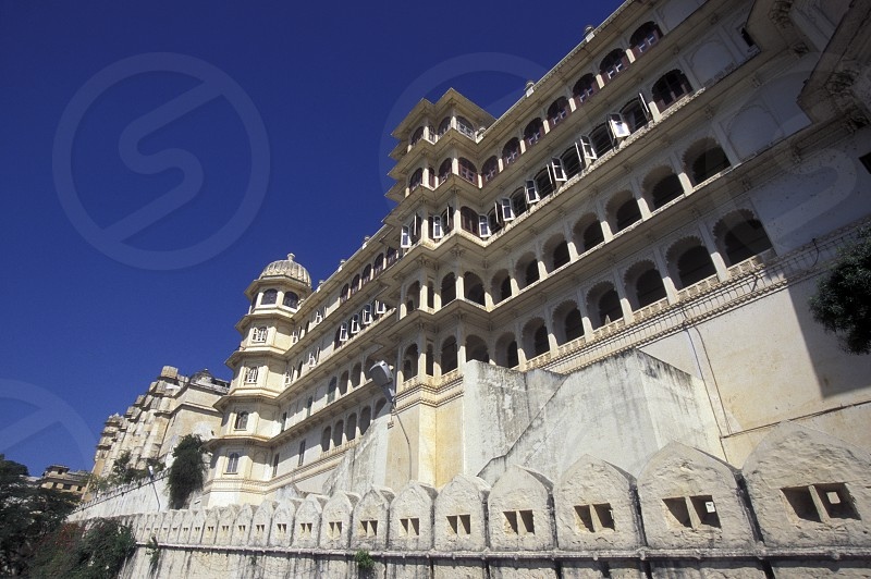 the Palace Hotels Fateh Prakash at the city of Udaipur in the province Rajasthan in India. photo