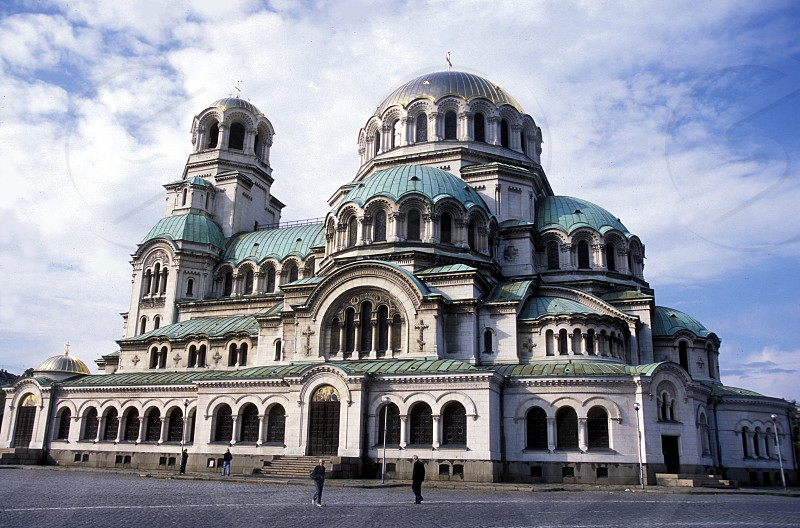 The Nevski church in the city of Sofia in Bulgaria in east Europe. photo