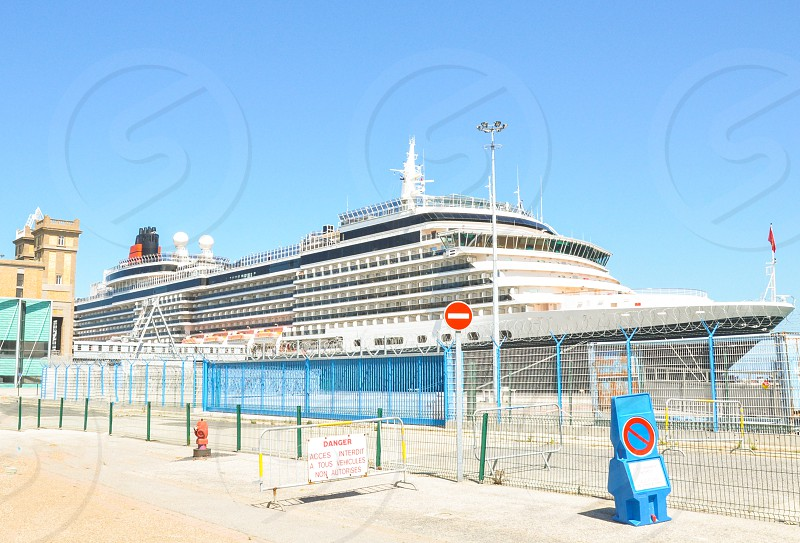 vibrant docked cruise liner  photo