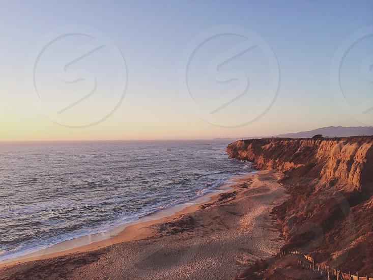 brown sand beach  photo