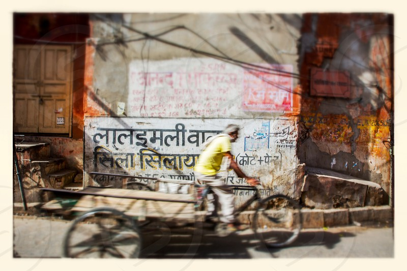 Street scene in Jaipur India photo