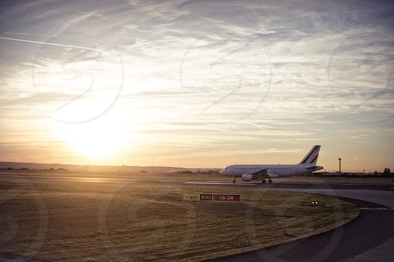 Airplane preparing for Liftoff photo