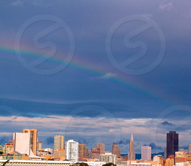 San Francisco skyline and rainbow photo