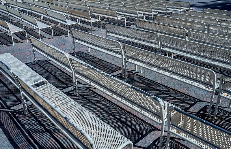 geometric lines seating bleachers photo