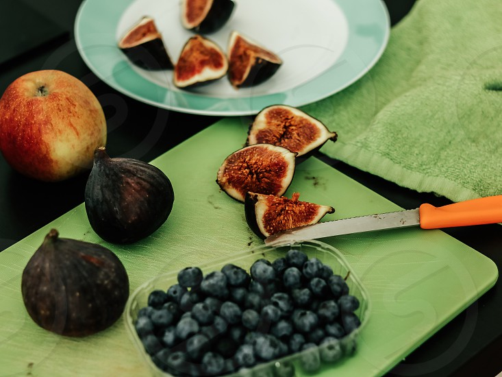 Figs and blueberry  photo