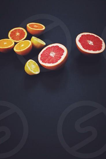 orange fruit and grapefruit photo