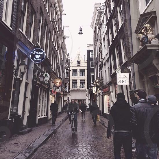 Red Light District Amsterdam.  photo