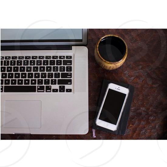 Office mug laptop photo