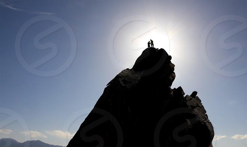 Climbers reach the summit photo