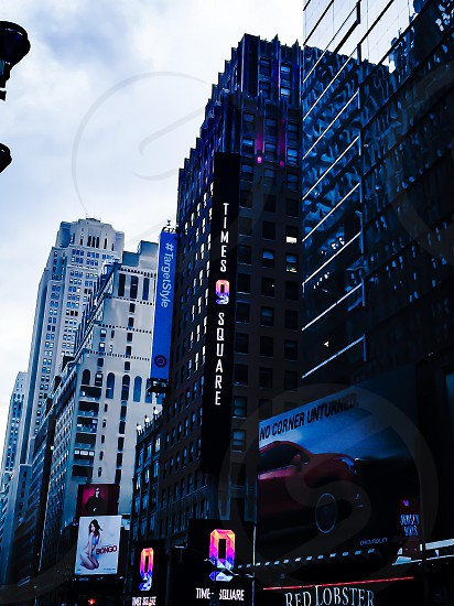 Times Square in blue.. photo
