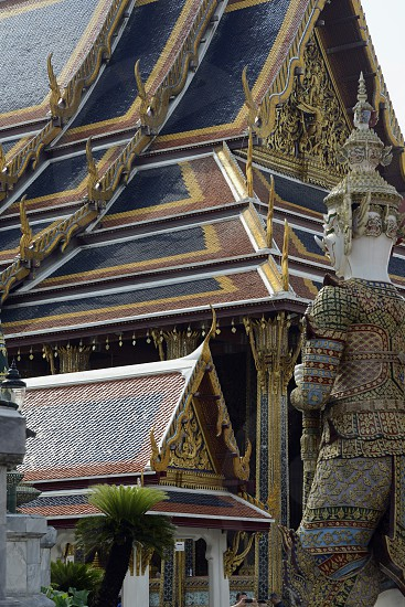 the temple of Wat Phra Kaew in the city of Bangkok in Thailand in Southeastasia. photo