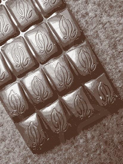 black chocolate on gray fabricwave effect photo