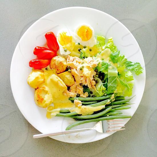 Salad healthy eating tuna Niçoise salad vegetables  photo